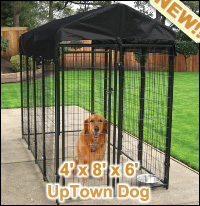 Do-it-yourself Modular Kennel Kit 4W x 8L x 6H