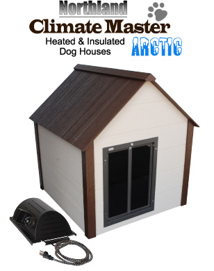 heated dog house large climate master arctic insulated house 10431