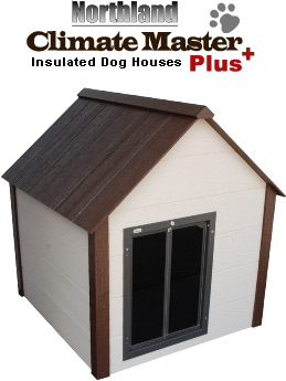 Extra large climate master plus insulated dog house for Large insulated dog house