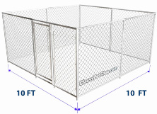 Chain Link Kennel Kit 10