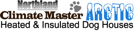 Climate Master insulated dog houses