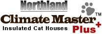 Climate Master insulated cat houses