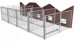 Outdoor Dog Run Adjoining Building