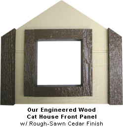 Engineered Wood cat House Front Panel