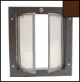 Brown Medium Wall Mounted Dog Door