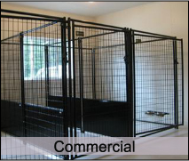 Dog houses, modular dog kennels, dog runs, and dog doors