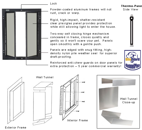 Kennel Doors Aluminum Amp Buy Deluxe Aluminum Pet Door